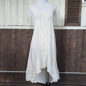 Free People off white dress sleeveless size M